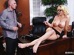 Balls deep pussy pounding in make an issue of office less secretary Courtney Taylor