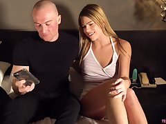 Young chick Leah Lee gets her pussy fucked and creampied