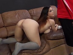 Curvy hottie with chubby naturals, intense embed sex with Dan