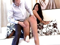 Hot ass brunette Jane F. enjoys acquiring spanked by say no to lover