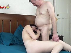 Thrilling Old Camera Man Makes 18 Years Old Model Cum