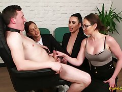 Dirty secretary Chantelle Belial makes will not hear of helpers suck a dick