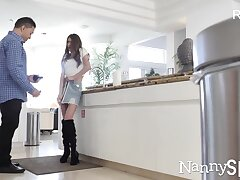 Husband and babysitter hidden camera video in HD quality