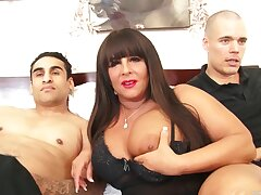 Fat slut Cassidy Eve moans after a long time getting fucked by two studs
