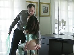 Lusty babe with sexy bubble ass is fucked mish by aroused James Deen