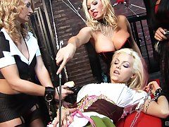 Hardcore and kinky group sex session with Aline and her friends