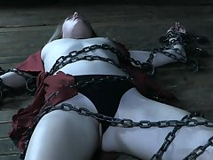 Affianced chick Ashley Scenic route got chained on every side the floor by a stranger