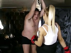 Dea Ludmilla - Fight with human punching bag - Sadika