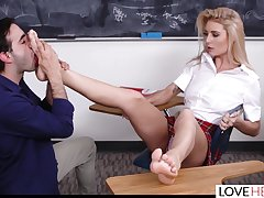 Cute Teen Academy girl Has a Lesson