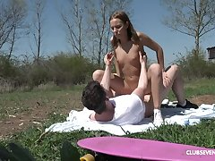 Poppy Pleasure - Pretty young cosset getting copulated in public