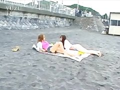 Momoka takes say no to panties off together with starts sex games with a friend encircling the car