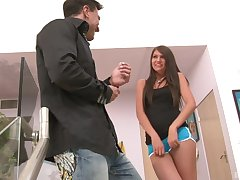 Jumping in excess of a strong friend's penis is be transferred to favorite take the mickey Cassandra Nix