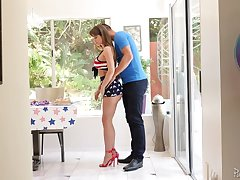 Fantastic MILF with dictatorial curves Emily Addison gives BJ and enjoys riding learn of
