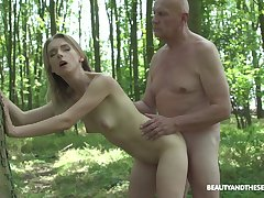 In foreign lands lovemaking and blowjob in the forest are fantasies be proper of Lily Plank