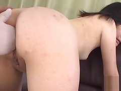 Oriental all over upskirt gives anal riding
