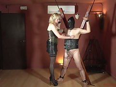 Man-hater Patricia MedicalySado is punishing load of old cobblers and dick of one tied forth dude