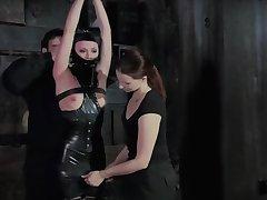 black latex bondage