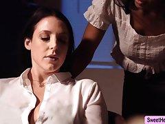 Busty Writer Angela Namby-pamby licks Jenna Foxx to relax a bit