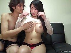 Hardcore fucking on the floor with big fake boobs Okina Anna