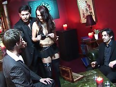 Professional convoy Claudia Adams fucked and double penetrated