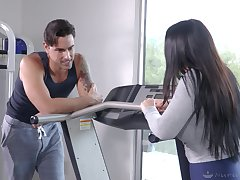 Pure lustfulness and pleasure between a MILF and will not hear of personal trainer