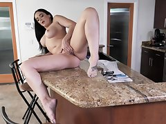 By oneself spliced seem to be fucks more than the kitchen counter until she cums