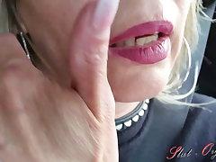 Slut-Orgasm, Celeste has entertainment in my car after a shopping tour