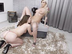 Bagatelle play and pussy eating with hot Alessandra Amore and Mia Lei