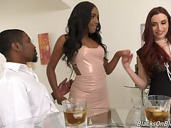 Interracial triplet nearby pornstars April Snow together with Ashley Aleigh